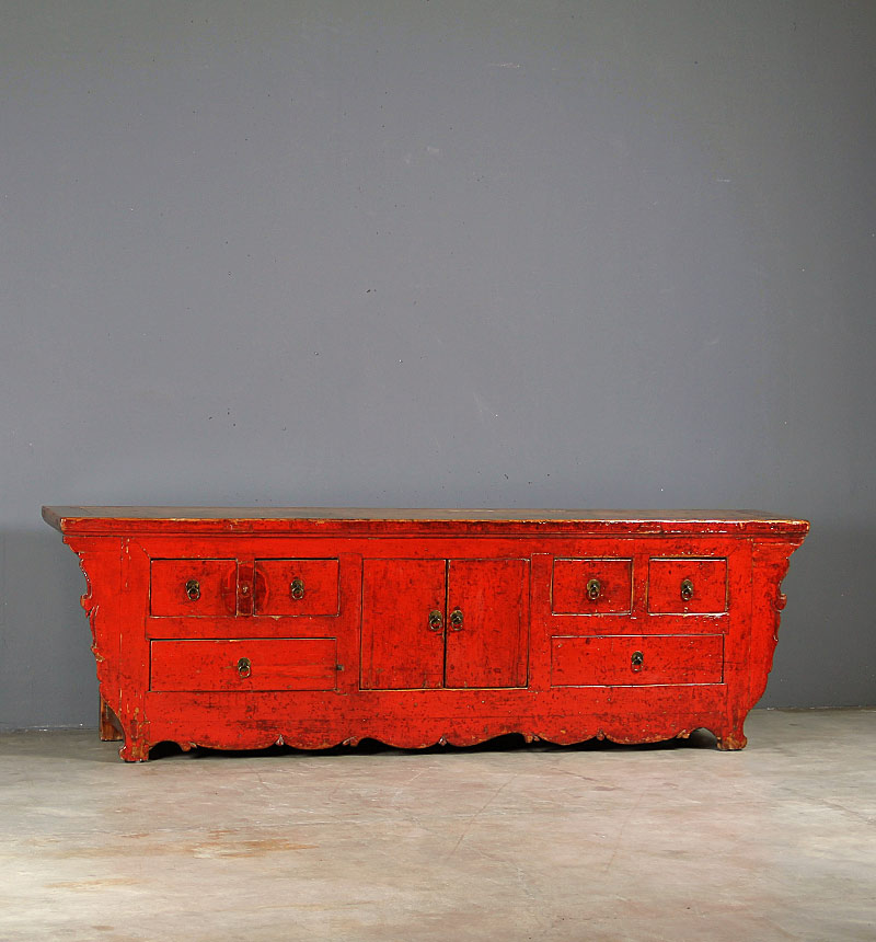 4459 Long red cabinet – Annuzza
