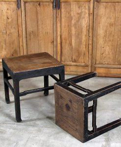 antique-black-stool-table