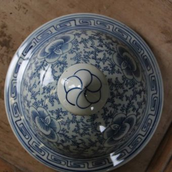 Jar-blue-white-lid